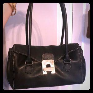 NWOT Black leather purse